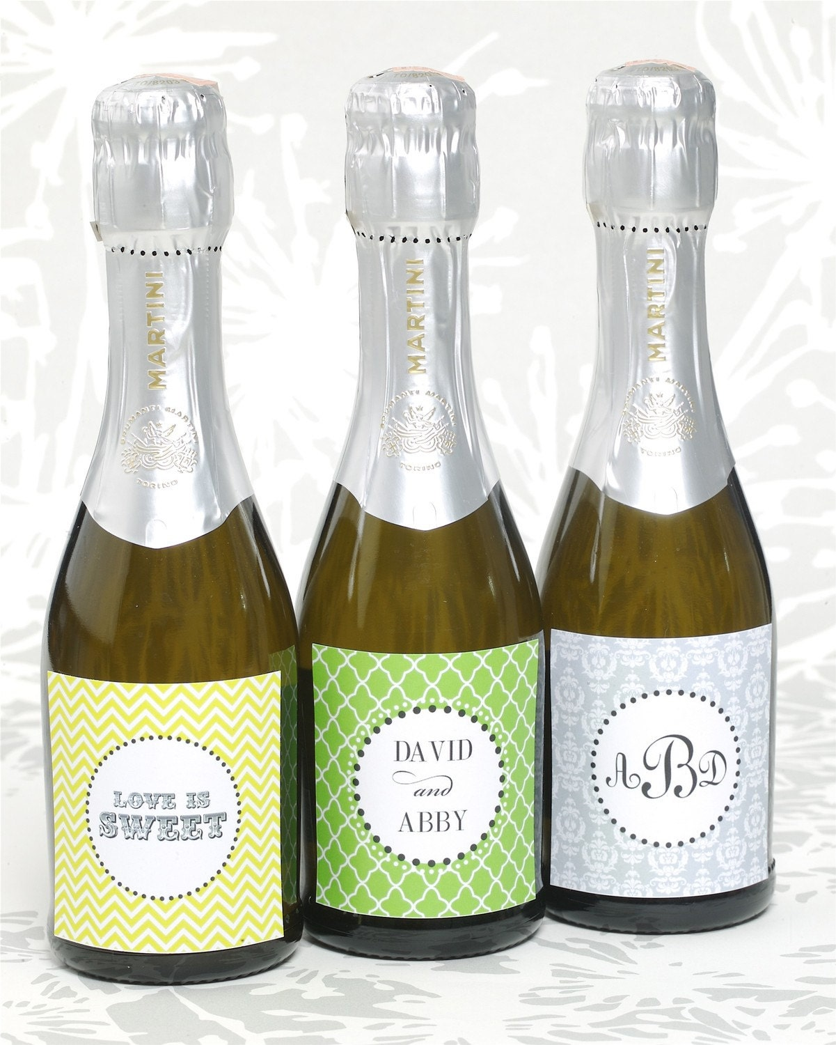 printable personalized mini champagne or wine bottle With custom mini champagne bottles