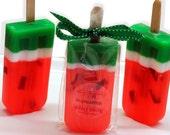 Set of 4 Juicy Watermelon scented Soap Pop Kids Party Favors