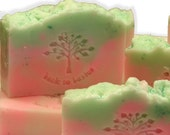 Melon Mist Natural Shea Butter Soap 4 oz,  Moisturizing Vegan