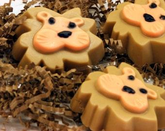 Set of 10 Lightheart Lion Soap Safari Zoo Animal Kids Party Favors  Fun Girl Boy Gift