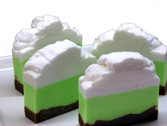 Key Lime Pie Whipped Shea Butter Soap Bar