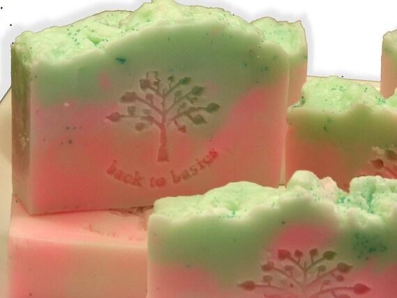 Melon Mist Natural Shea Butter Soap 4 oz,  Moisturizing Vegan