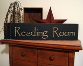 Reading Room Sign