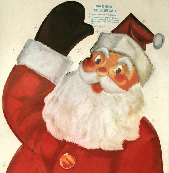 Life Size 1950s Santa Claus Poster
