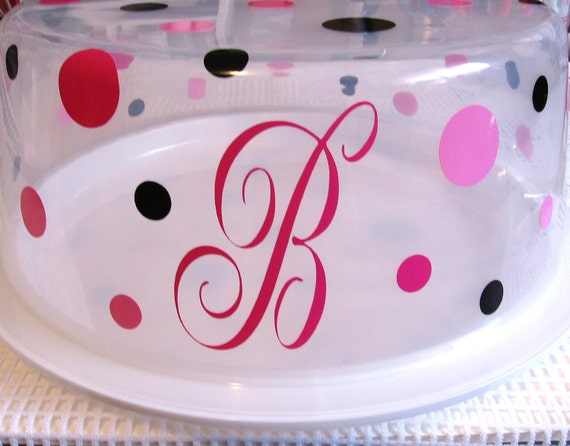 Vinyl Decal Stickers for Cake/Cupcake Carrier - Personalized - Mongrammed Initials/Names - DIY - Home Decor