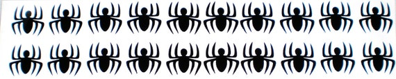20 Spider Vinyl Decals -  Spiderman Party - 20 (1 inch) Spider Stickers - Spiders - Birthday Party - Halloween Decorations  - Scrapbooking