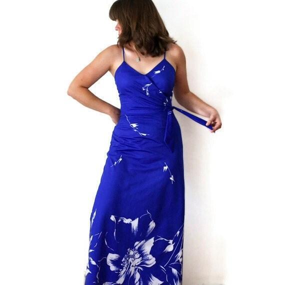 Vintage Hawaiian Print Dress - Hawaii Dress, 1970s Dress