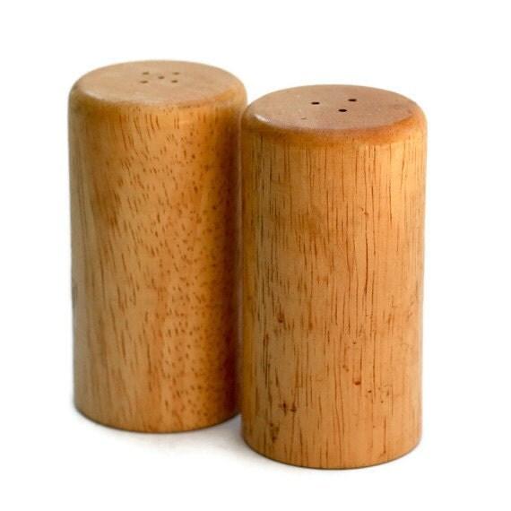 Wood Salt & Pepper - Salt Shakers, Mid Century Modern