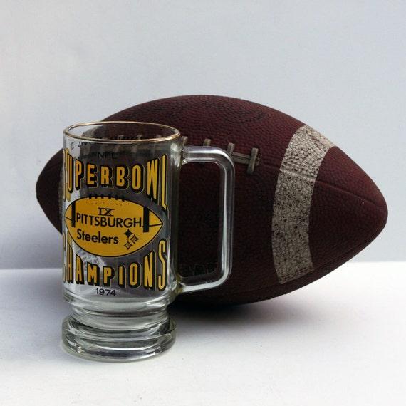 Pittsburgh Steelers 1974 Super Bowl Glass Mug