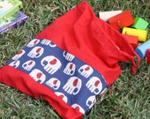Bag Drawstring Library Toy Puzzle Piece Blocks Bag by SassyBabyQuilts