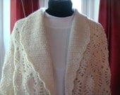 Pineapple Crochet Collared Shawl with domestic shipping included
