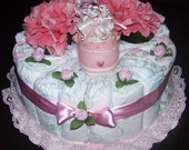 One Layer Pink Baby Cake
