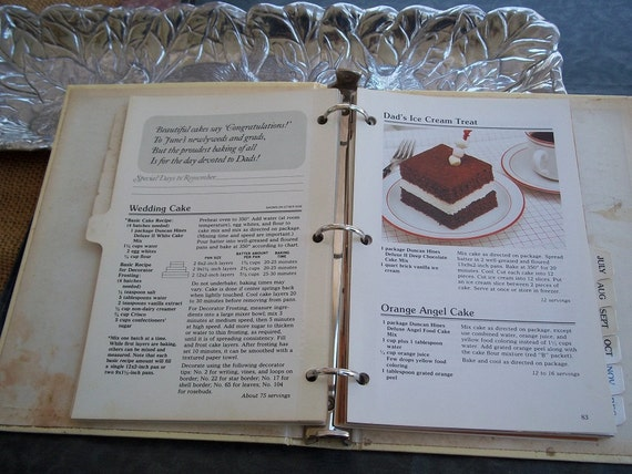 1970's Vintage Duncan Hines Dessert Cookbook plus Retro Recipe Booklets