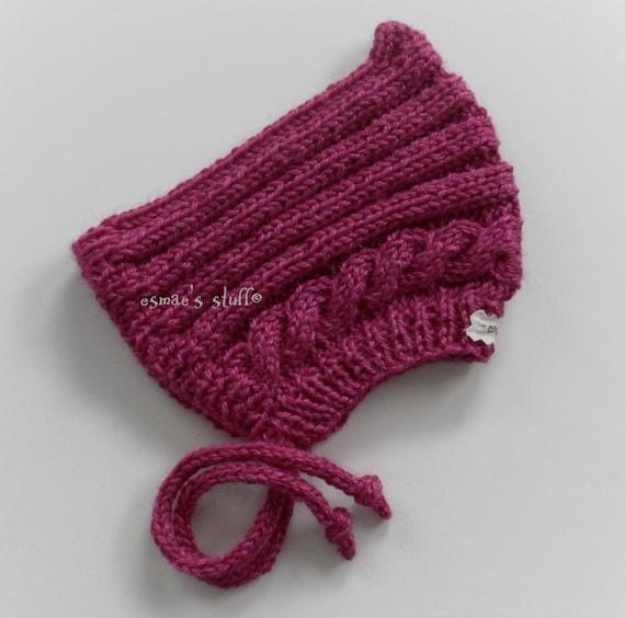 esmae's pixie hat in peony pink