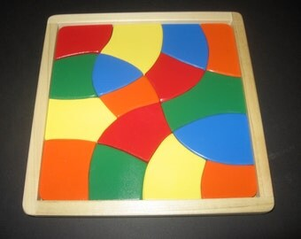COSMIC COLORS - Wooden Jigsaw Tray Puzzle