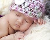 Cotton Candy Fluff Newborn Baby Beanie Hat