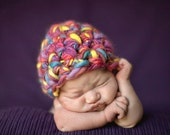 Newborn Beanie Hat Pink Blue Yellow Purple