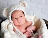 Sweet Dreams Earflap Beanie Bear Hat