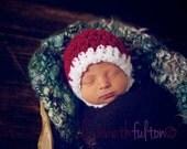 Santa Christmas Chinstrap Hat Newborn Baby