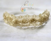Pearl Fairy Halo Flower Headband in Gold