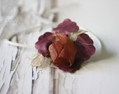 Fairy Flower Headband in Burgundy