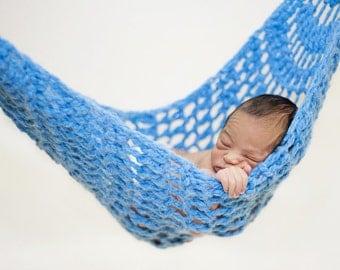 Newborn Hammock Pod Photo Prop in Sky Blue