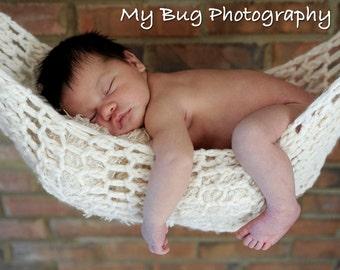 Newborn Hammock Pod Photo Prop Ivory White