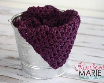 Chunky Grape Purple Newborn Baby Blanket Photo Prop