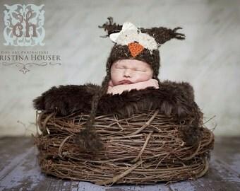 Chocolate Brown Mongolian Faux Fur Rug Nest Photography Photo Prop 27x20 Newborn Baby Toddler Mat Backdrop Floordrop