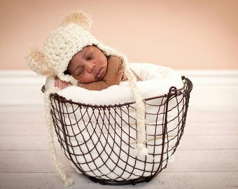 Sweet Dreamer Fuzzy Earflap Teddy Bear Hat