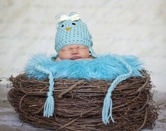 SET Aqua Faux Fur, Wood Branch Nest, Owl Nest, Bird Nest, Newborn Nest, Newborn Photography, Photo Prop