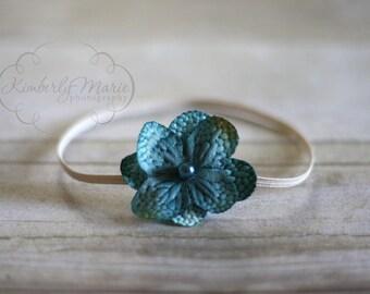 Simple Blue Flower Headband