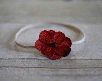 Simple Red Flower Headband