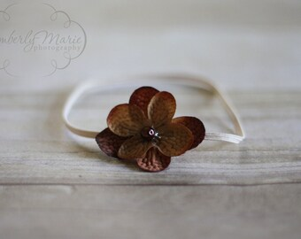 Simple Brown Flower Headband