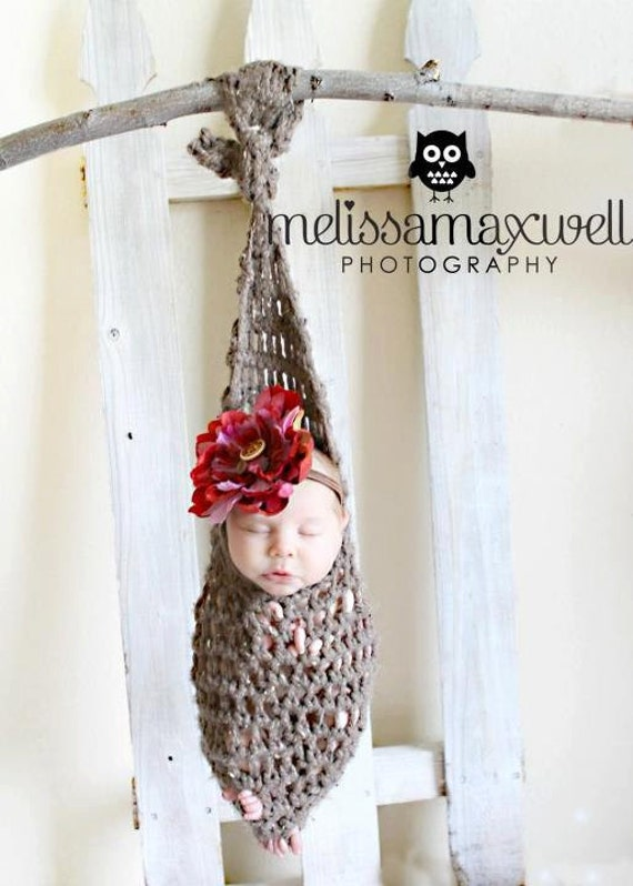 Barley Hanging Infant Newborn Stork Sack Pod Swing Professional Photography Baby Prop