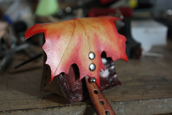 Autumn / Summer Maple Leaf Gusset Pouch