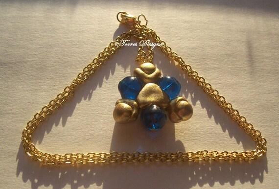 Zora Sapphire Pendant Necklace Legend of Zelda Custom OOAK