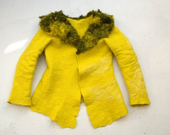 hand felted coat 'moon'