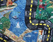 Country Road Trip Interactive Quilt Game with ME cars.