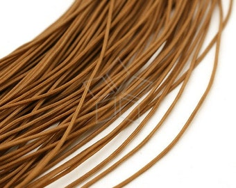 WR-003-BR / 10 meters - Silky Cord 1mm (BROWN) for Necklace and Knot Bracelet / 1mm