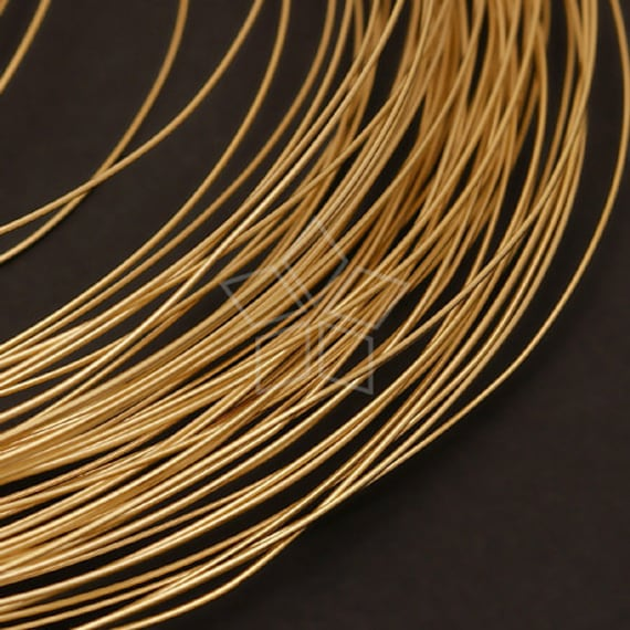 WR-008-GD / 10 m - 26 ga(0.4mm) 16K Gold Plated over BRASS Wire 10 meters