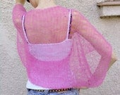 Bright Pink Shrug Soft Hand Knitted Sleeves new summer collection