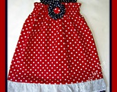 Miss Red White and Blue girls sundress