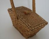 Vintage sewing basket trinket box