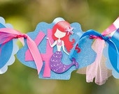 Mermaid Birthday Banner  to match any color