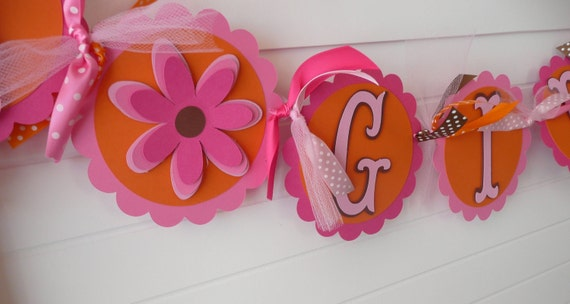 It's A Girl  Banner  Baby Shower -Customized to match any color/theme