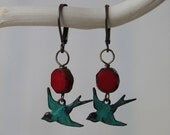 Take Flight - Patina Bird Earrings