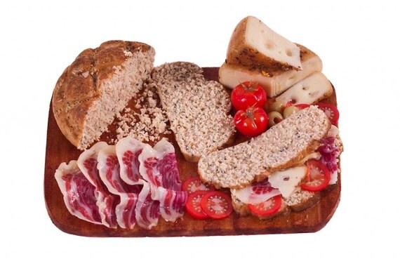 deli sandwich board wholmeal bread miniature food