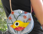Blue Jean Bird Purse 19