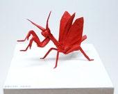 Red Mantis Origami